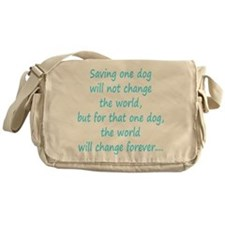 Save dog aqua Messenger Bag