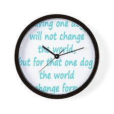 Save dog aqua Wall Clock