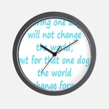 Save dog aqua Wall Clock
