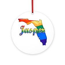 Jasper Round Ornament