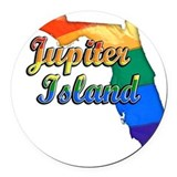 Jupiter island Round Car Magnets