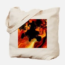 ATV on Road From Hell Twin Duvet Tote Bag