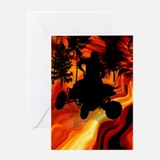 ATV on Road From Hell Twin Duvet Greeting Card