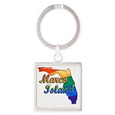 Marco Island Square Keychain