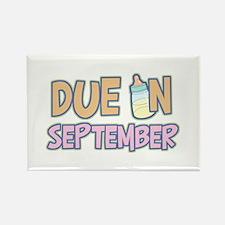Due In September Girl Rectangle Magnet