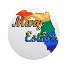 Mary Esther Round Ornament