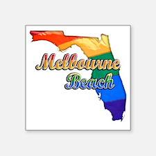 """Melbourne Beach Square Sticker 3"""" x 3"""""""