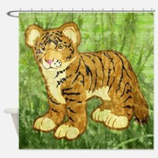duvetQueenTigerCub Shower Curtain