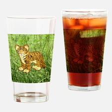 squareTigerCub Drinking Glass