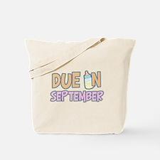 Due In September Girl Tote Bag