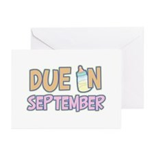 Due In September Girl Greeting Cards (Pk of 10)