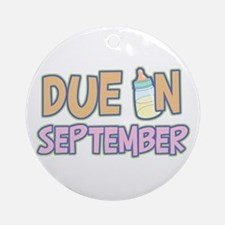 Due In September Girl Ornament (Round)