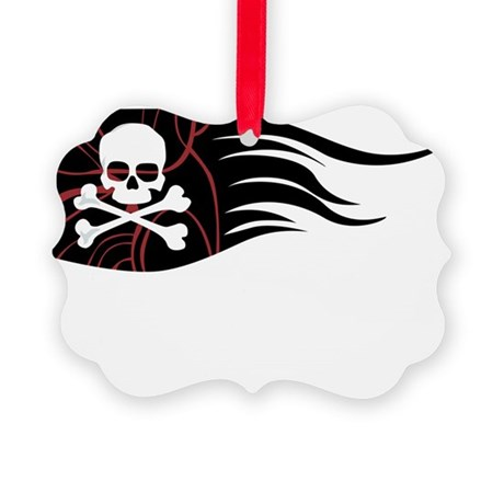 Jolly Rodger Pirate Flag Picture Ornament