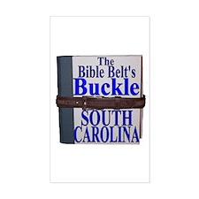 South Carolina Belt Buckle Rectangle Decal