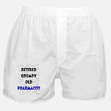 retired grumpy old pharmacist Boxer Shorts