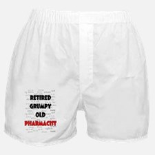 retired grumpy old pharmacist red Boxer Shorts