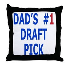 Plush Football for Son from Dad Throw Pillow