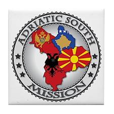 Adriatic South LDS Mission Flag Cutou Tile Coaster