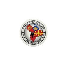 Adriatic South LDS Mission Flag Cutout Mini Button