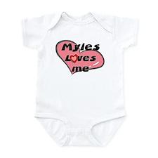 myles loves me  Infant Bodysuit