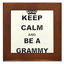 KEEP CALM AND BE A GRAMMY Framed Tile