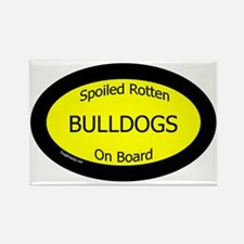 BulldogsSpoiledRottenOnBoard Rectangle Magnet