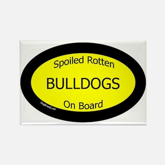 BulldogsSpoiledRottenOnBoard Rectangle Magnet