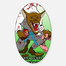 werewolves of corvallis rated r Sticker (Oval)
