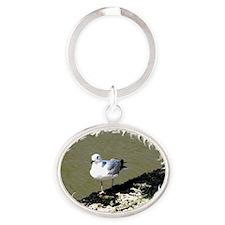 Seagull4 Oval Keychain