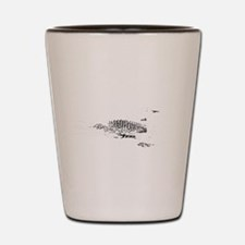 Loonie-7-whiteLetters copy Shot Glass