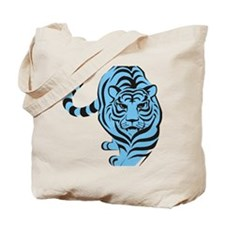tiger blue Tote Bag