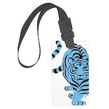 tiger blue Luggage Tag