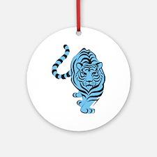 tiger blue Round Ornament