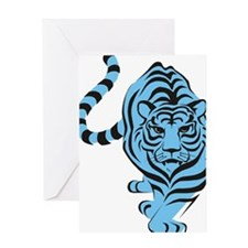 tiger blue Greeting Card