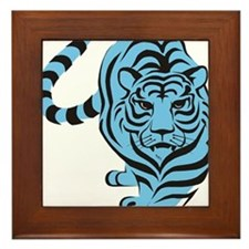 tiger blue Framed Tile