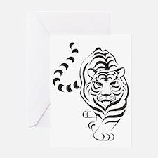 tiger white Greeting Card