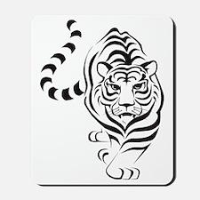 tiger white Mousepad