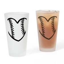 baseball_heart Drinking Glass