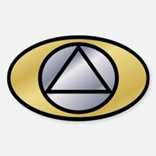 Gold Silver Auto ID Decal