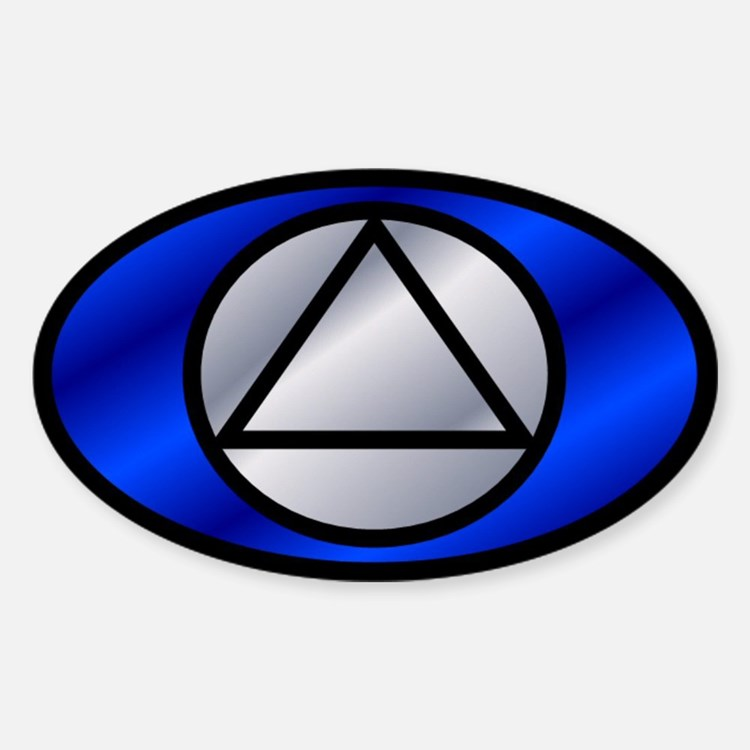 Blue Silver Auto ID Decal