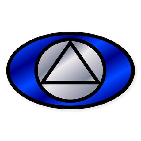 Blue Silver Auto ID Sticker
