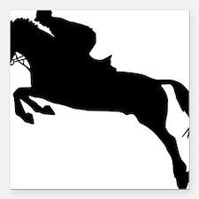 "horse_showjumping Square Car Magnet 3"" x 3"""