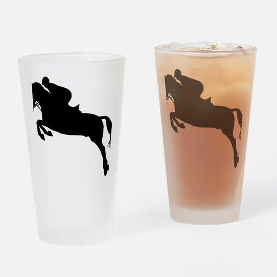 horse_showjumping Drinking Glass
