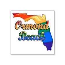 "Ormond Beach Square Sticker 3"" x 3"""