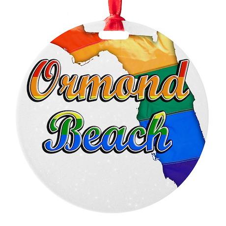 Ormond Beach Round Ornament