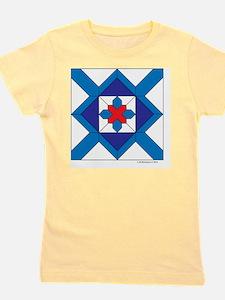 Quilt Design V-143 square Girl's Tee