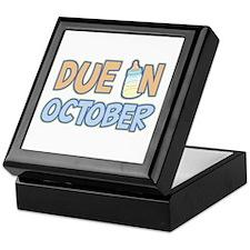 Due In October Boy Keepsake Box