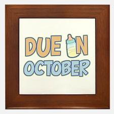 Due In October Boy Framed Tile
