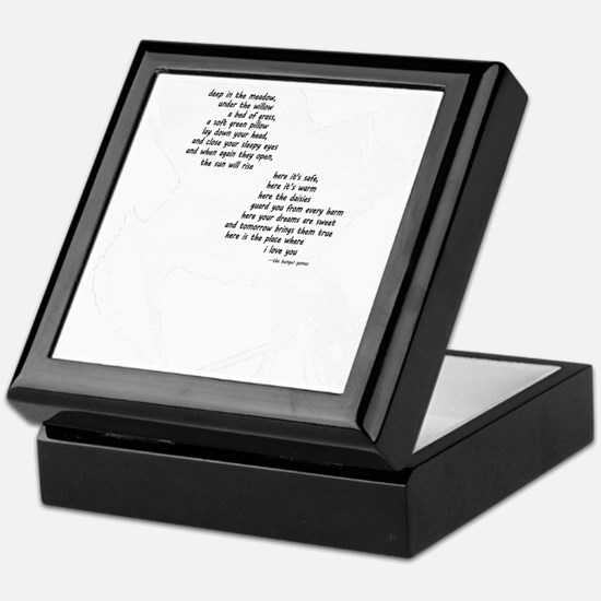 rues lullaby black and white for blac Keepsake Box
