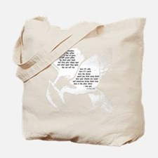 rues lullaby black and white for black hu Tote Bag
